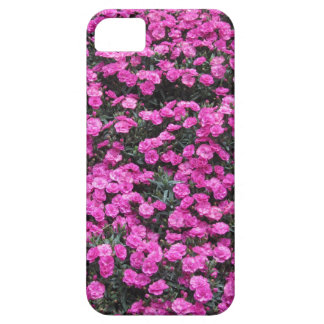 Natural background of purple carnation flowers iPhone 5 case