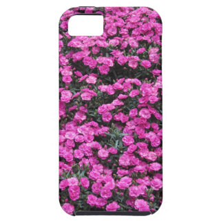 Natural background of purple carnation flowers iPhone 5 cases