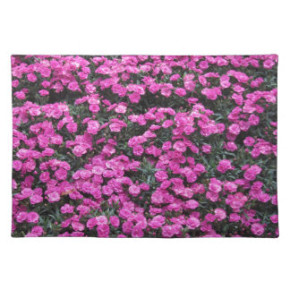 Natural background of purple carnation flowers placemat