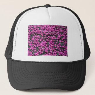 Natural background of purple carnation flowers trucker hat
