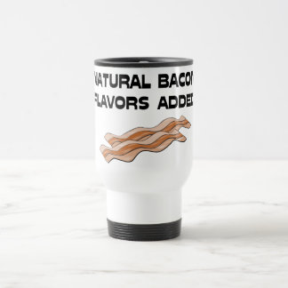 Natural Bacon Flavors Added Stainless Steel Travel Mug