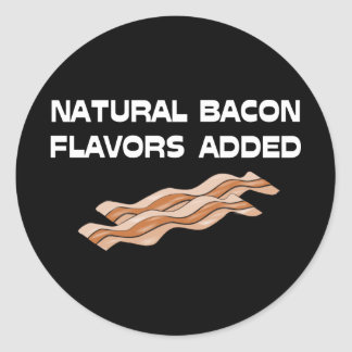 Natural Bacon Flavors Added Round Sticker