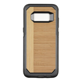 Natural Bamboo Border Wood Grain Look OtterBox Commuter Samsung Galaxy S8 Case