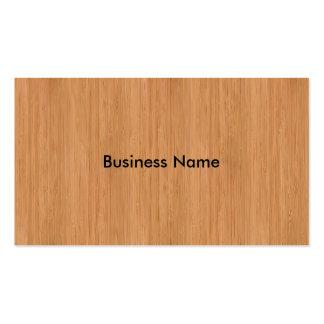 Natural Bamboo Look Business Card