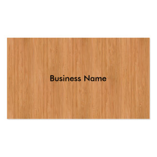 Natural Bamboo Wood Grain Look Pack Of Standard Business Cards