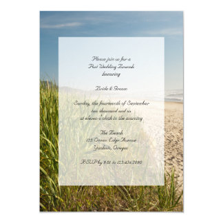 Natural Beach Post Wedding Brunch Invitation