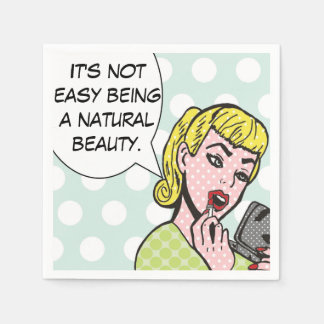 Natural Beauty Comic Book Napkins Disposable Napkin