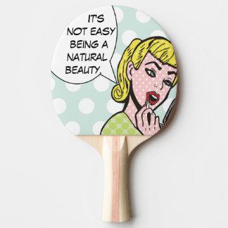 Natural Beauty Comic Book Ping Pong Paddle