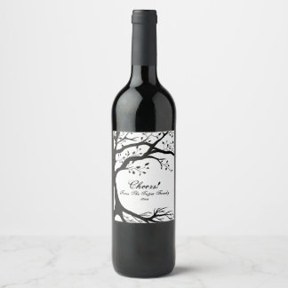 Natural, Black and White Tree Wine Label