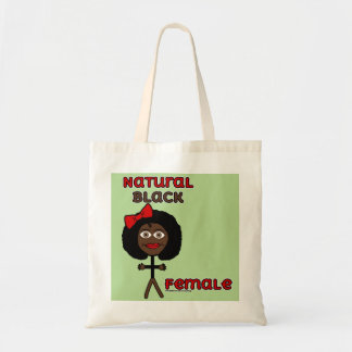 Natural Black Female Tote Bag