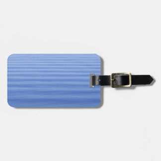 Natural Blue Rippled Water Luggage Tag