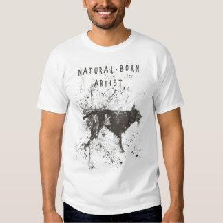 natural born artist (black and white) t shirt