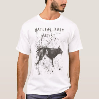 natural born artist (black and white) T-Shirt
