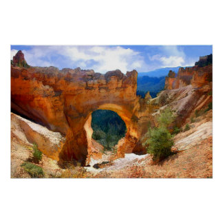Natural Bridge Arch in Bryce Canyon NP-Realism Poster