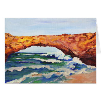Natural Bridge in Aruba Card