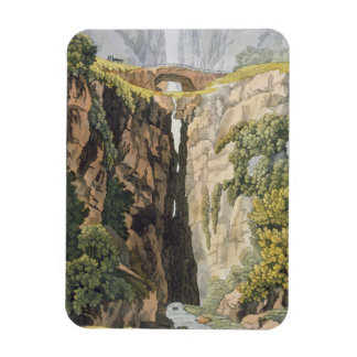 Natural Bridge, Valle d'Icononzo (colour litho) Rectangular Photo Magnet