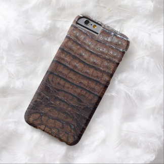 Natural Brown Alligator Print Barely There iPhone 6 Case