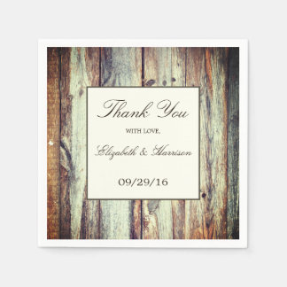 Natural Brown Oak Wedding Disposable Napkin