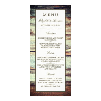 Natural Brown Oak Wedding Menu