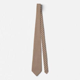Natural Burlap Chevron Stripe Tie