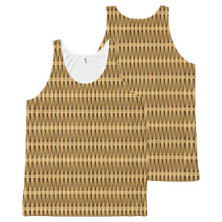 Natural cane wicker All-Over-Print tank top