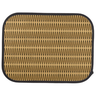 Natural cane wicker car mat