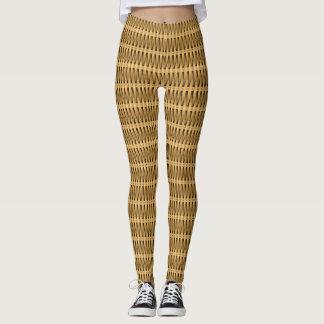 Natural cane wicker leggings