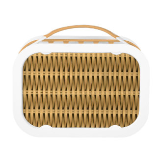 Natural cane wicker lunch box