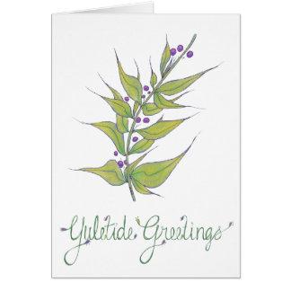 Natural Christmas- Yuletide Greetings Card