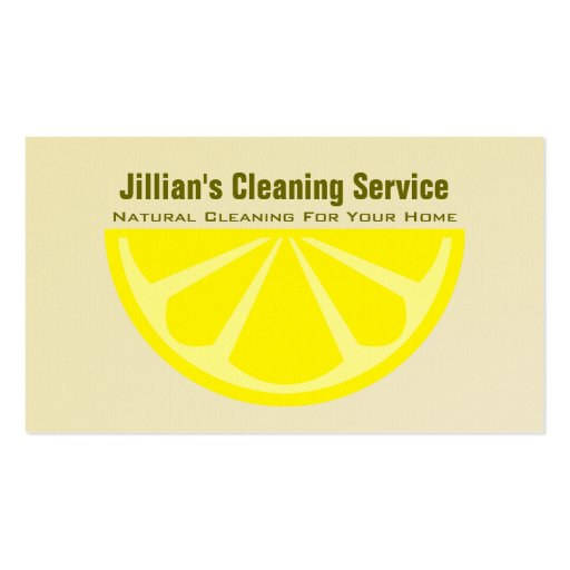 Natural Cleaning Service Business Card Lemon