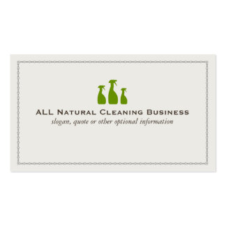 Natural Cleaning Service Business Cards