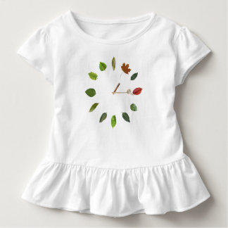 Natural clock style Toddler Ruffle Tee