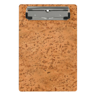 Natural Cork Look Wood Grain Mini Clipboard