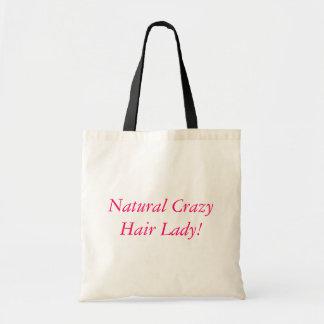 Natural Crazy Hair Lady! Budget Tote Bag