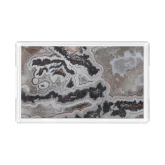 Natural Crazy Lace Agate Photo Acrylic Tray