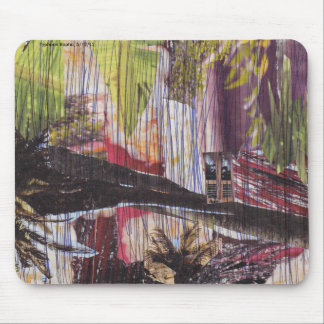 Natural disaster collage mouse mat mouse pad