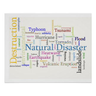Natural Disaster Related Text Print