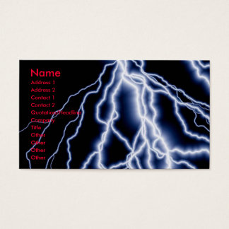 Natural Disasters lightning cards business