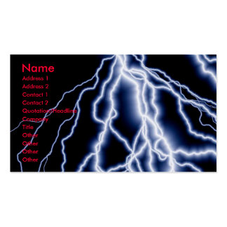 Natural Disasters lightning cards business Business Card