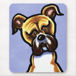 Natural Ears Boxer Face Mouse Pad