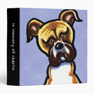 Natural Ears Boxer Personalized Memory Album Binder