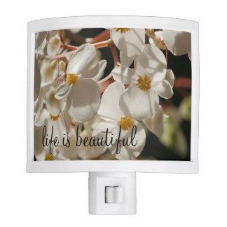 Natural Flower Blossoms Design Night Lites