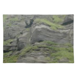 natural folds in stone placemat