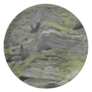 natural folds in stone plate