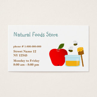 Natural Food Store Business Card
