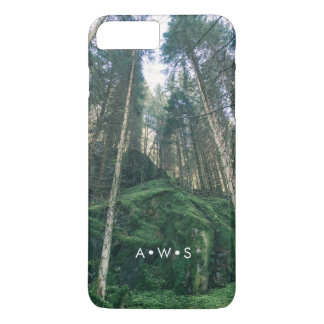 Natural Forest Scenery Personalized Initials iPhone 8 Plus/7 Plus Case