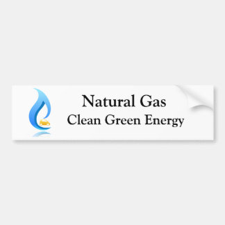 Natural Gas Clean Green Energy Bumper Sticker
