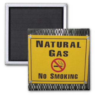 Natural Gas Square Magnet