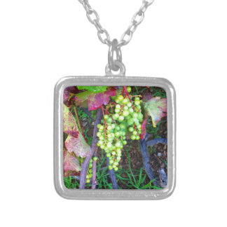 Natural Grapes Silver Plated Necklace
