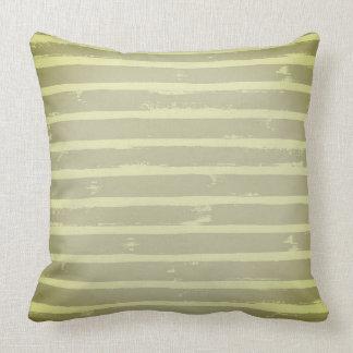Natural Green Accent Throw Pillow